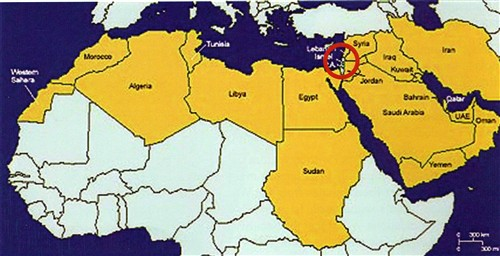 Map of Israel in the World001